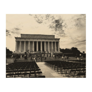 Lincoln Monument Wood Print
