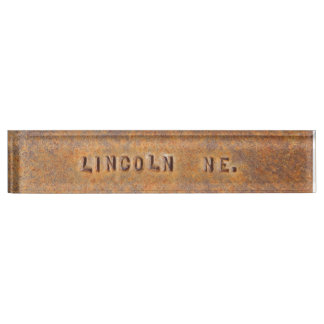 Lincoln Nebraska Desk NamePlate