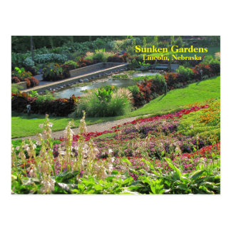 Lincoln, Nebraska Sunken Gardens #222N   0222 Postcard