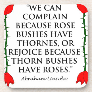 Lincoln: on Thornes and Roses (Two Roses). Drink Coasters