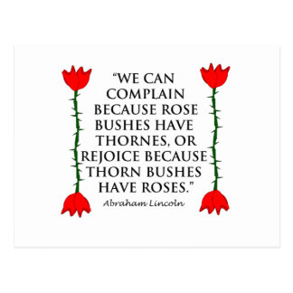 Lincoln: on Thornes and Roses (Two Roses). Postcard