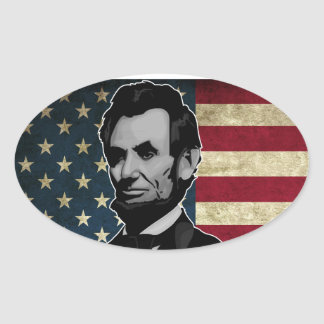 lincoln oval sticker