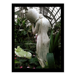 lincoln park conservatory :: fountain postcard
