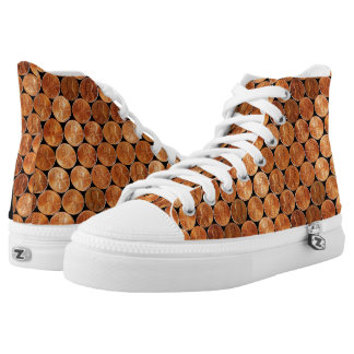 Lincoln penny/pennies copper coin, penny loafer 4 high tops