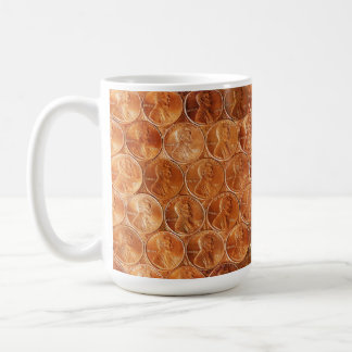 Lincoln penny/pennies copper US coin, penny 2 Coffee Mug