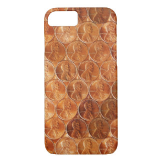 Lincoln penny/pennies copper US coin, penny 2 iPhone 8/7 Case