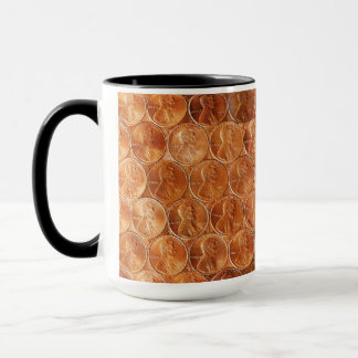 Lincoln penny/pennies copper US coin, penny 2 Mug
