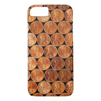 Lincoln penny/pennies copper US coin, penny iPhone 8/7 Case