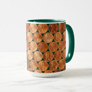 Lincoln penny/pennies copper US coin, penny Mug