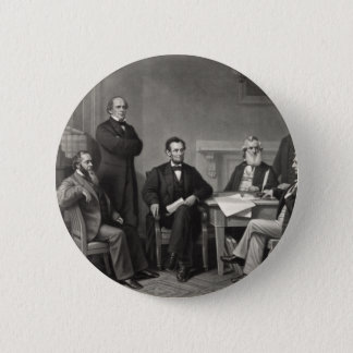 Lincoln Reading the Emancipation Proclamation 2 Inch Round Button