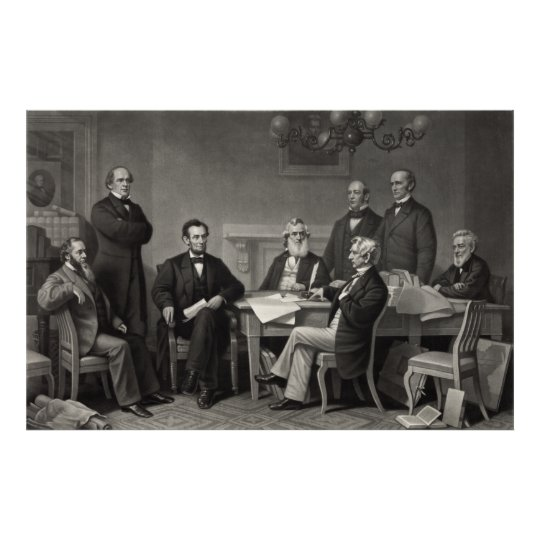 Lincoln Reading the Emancipation Proclamation Poster