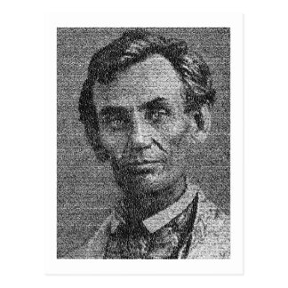 Lincoln Rendered with Gettysburg Address Postcard