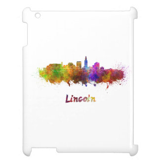 Lincoln skyline in watercolor cover for the iPad 2 3 4