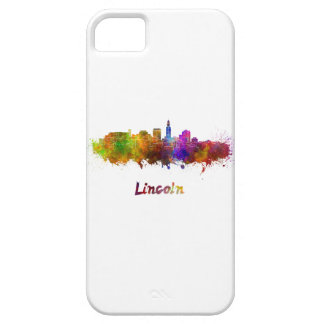 Lincoln skyline in watercolor iPhone 5 cover