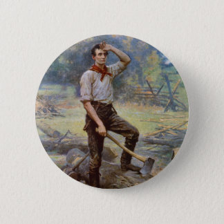 Lincoln the Rail Splitter by Jean L. Gerome Ferris 2 Inch Round Button