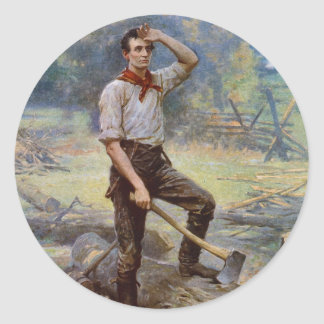 Lincoln the Rail Splitter by Jean L. Gerome Ferris Classic Round Sticker