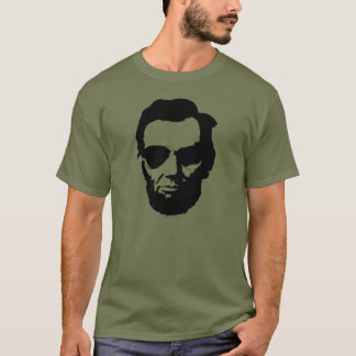 Lincoln with Aviator Sunglasses - Black T-Shirt