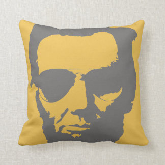 Lincoln with Aviator Sunglasses Hipster (Gray) Throw Pillow