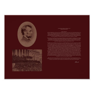 Lincoln's 2nd Inaugural Address Poster