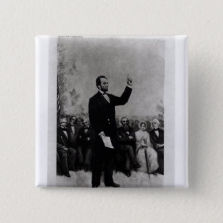 Lincoln's Address at Gettysburg, 1895 2 Inch Square Button