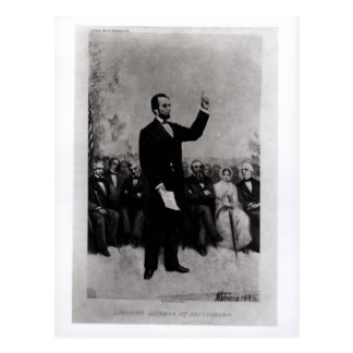 Lincoln's Address at Gettysburg, 1895 Postcard