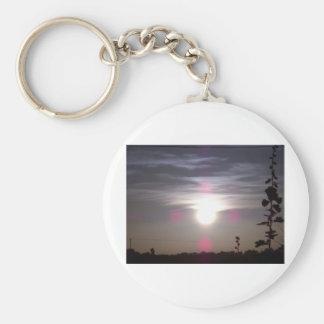 Lincolnshire Sunrise 2 Basic Round Button Keychain
