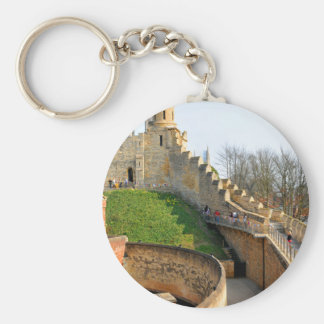 Lincon castle basic round button keychain