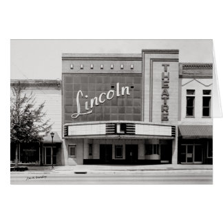 Lincon Theatre, Fayettville Tennesseee Card