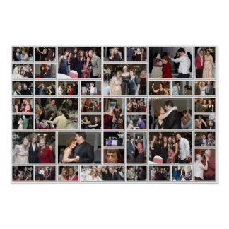 Linda and Bennett's Wedding Party Poster