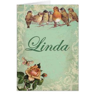 linda birds card