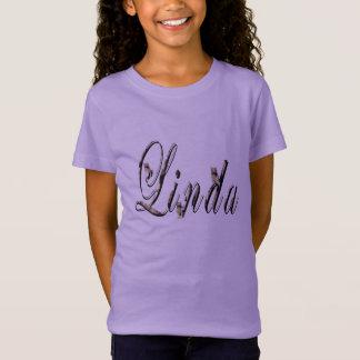Linda, Name, Logo, Girls Lavender T-shirt. T-Shirt