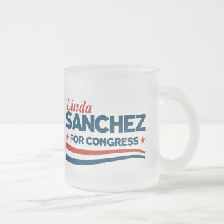 Linda Sanchez Frosted Glass Coffee Mug
