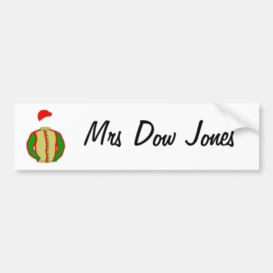 lindalarge, Mrs Dow Jones Bumper Sticker