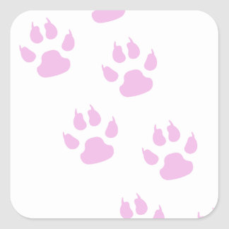 Lindas Huellitas de   color Rosa Square Sticker