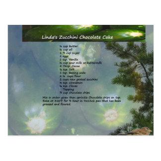 Linda's Zucchini Chocolate Cake Postcard