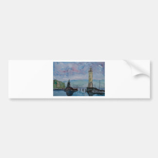 Lindau with Lion and Lighttower on Lake Constance Bumper Sticker