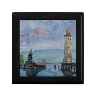 Lindau with Lion and Lighttower on Lake Constance Gift Box