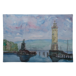 Lindau with Lion and Lighttower on Lake Constance Placemat