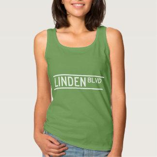 Linden Boulevard Sign Spaghetti Strap Tank Top
