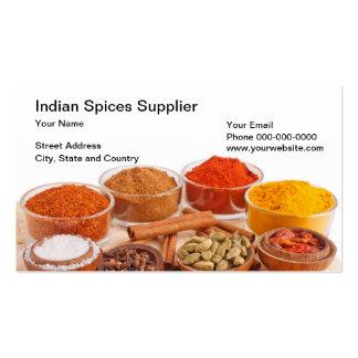 L'Indien épice le carte de visite de fournisseur
