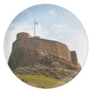 Lindisfarne Castle, Holy Island, England Plate