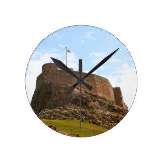 Lindisfarne Castle, Holy Island, England Round Clock
