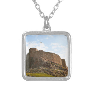 Lindisfarne Castle, Holy Island, England Silver Plated Necklace