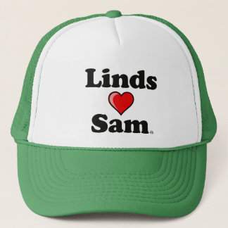 """Linds (heart) Sam"" Hat"