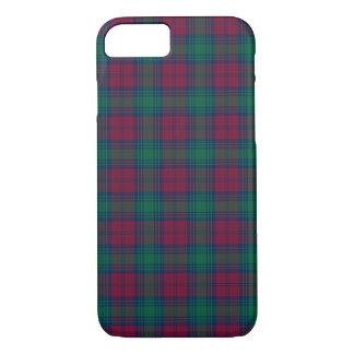 Lindsay Clan Maroon and Green Tartan iPhone 7 Case