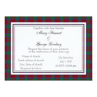 Lindsay Scottish Wedding Invitation