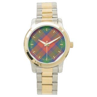 Lindsay Tartan Two-tone Watch