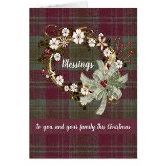Lindsay Weathered Tartan Christmas Card