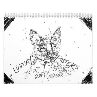 Lindsay's 2017 Foster Kitten Calendar