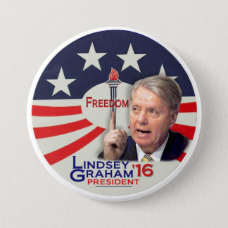Lindsey Graham for President 2016 3 Inch Round Button